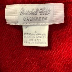 Marshall Fields Sweaters - Marshall Fields 100% Cashmere Red Sweater